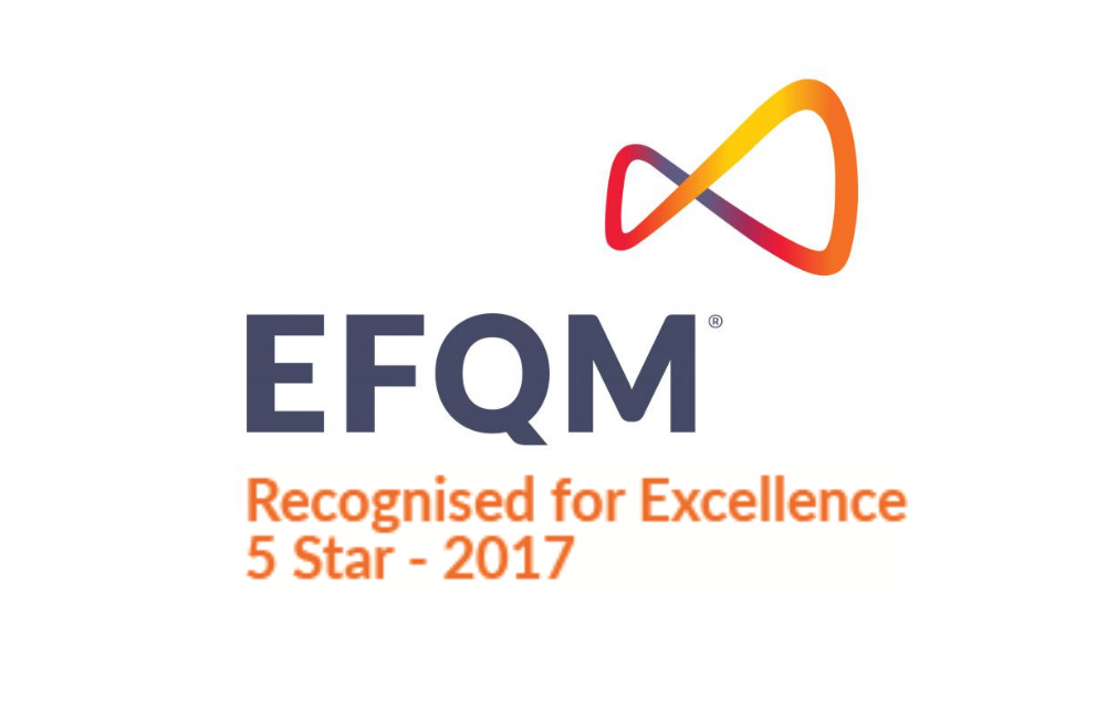 EFQM recognised for Excellence 5 Star 2017 logo