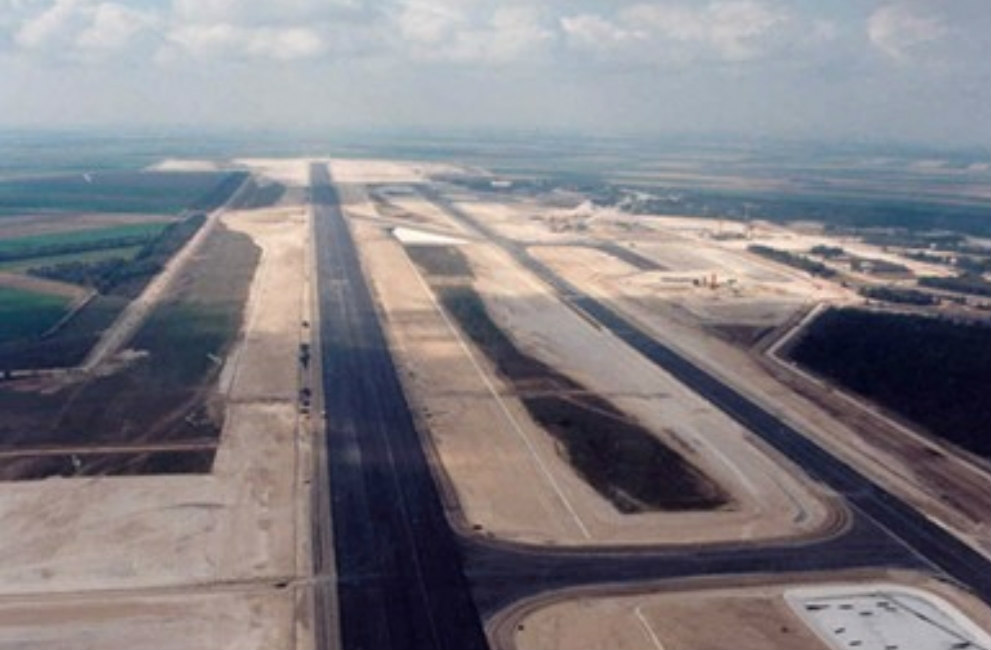 Airport image - areal view
