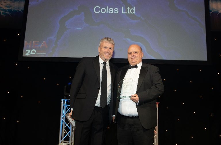 Colas ITS Receives Award from Highways Electrical Association