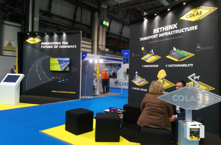 Colas showcases capabilities using Augmented Reality at Highways UK and REGEN 2019