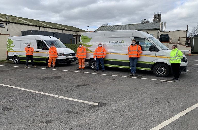 Colas team starts today in keeping Lincolnshire's roads safe for key workers